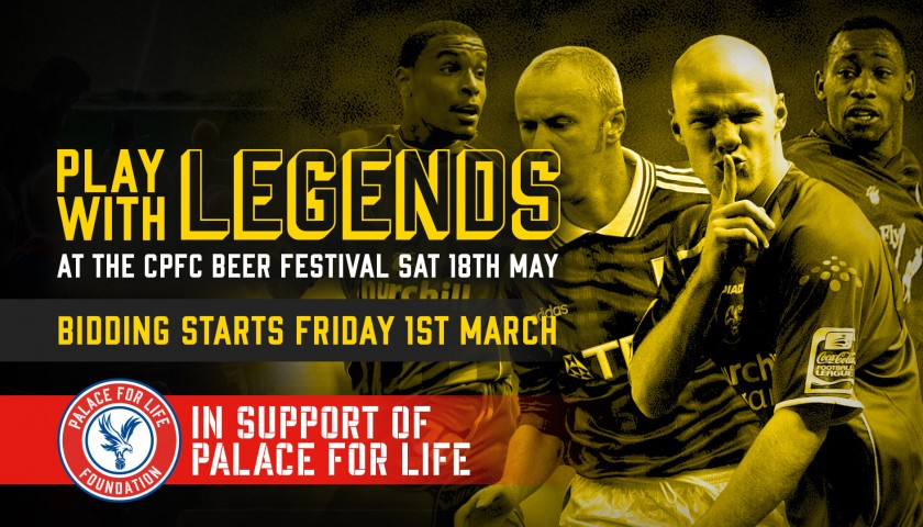 Play Right Centre Back Alongside Crystal Palace F.C Legends Neil Shipperly, Bobby Bowry and Dean Austin