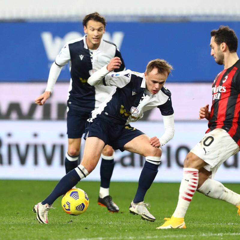 Damsgaard's Worn Kit, Sampdoria-Milan 2020, SPECIAL 120 Years Andrea Doria