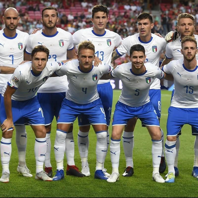 Barella's Match Shirt, Portugal-Italy 2018
